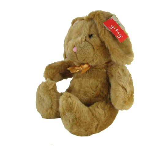 Goldie Plush 10 Inch Sitting Stuffed Bunny Rabbit by Gitzy - 1