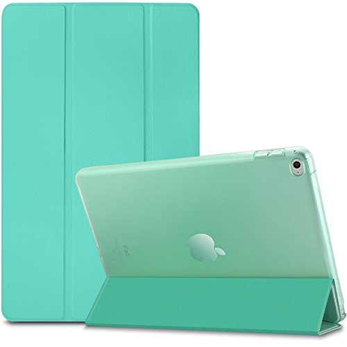Infiland Apple iPad Air 2 Case Cover -Apple iPad Air 2 Ultra Slim Translucent Frosted Back Leather Magnetic Smart Case Cover for iPad Air 2/iPad 6 2014 released Tablet(with Auto Wake/Sleep Function), Green