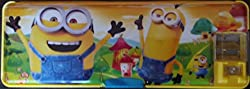Fancy Large Pencil Box (Despicable mini) With led Blub and dual Sharpener