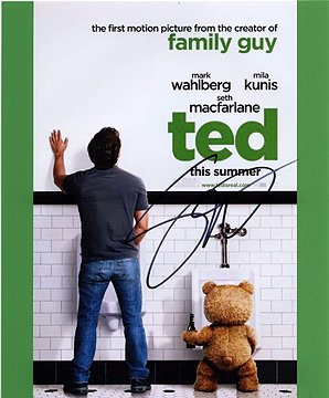 SETH MACFARLANE (Ted) 8x10 Male Celebrity Photo Signed In-Person seth macfarlane ted 8x10 male celebrity photo signed in person