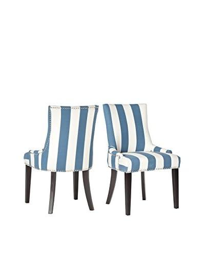 Safavieh Lester Dining Chair, Blue/White Stripe
