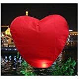 Set of 20 Heart Shape Chinese Sky Fly Fire Lanterns Wish Party Wedding Birthday Red Color