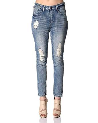 VILA - Vila boyfriend jeans - ZIPPA BOYFRIEND BHK2 - Taille W27 / L34 - Couleur Denim