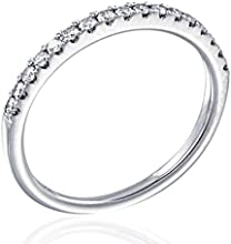 GH SI1-SI2 Round brilliant 14 carat 025 ctw 14K White Gold Diamond Wedding Band