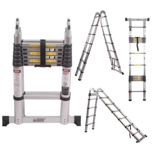 Generic Telescoping 14.5 Ft Aluminum Telescopic Ladder Multifunction 4.4 Metre Extension Portable Aluminum Alloys