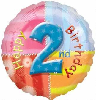 Amscan Happy 2nd Birthday Circle Foil Balloon HS40 - 1
