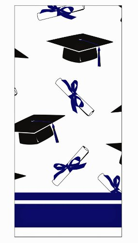 Creative Converting School Colors Paper Art Square Graduation Party Plastic Table Cover, Purple