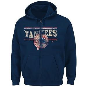 New York Yankees Majestic Cooperstown Full Zip Hooded Sweatshirt by Majestic