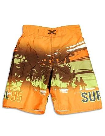 Osh Kosh B'gosh - Boys Surf Patrol Swimsuit, Orange 24439-7