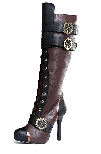 ELLIE-420-QUINLEY-4-Knee-High-Steampunk-Boot-With-Laces-Women-Brown-6-Size