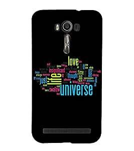 JUMBLED UP WORDS EXPLAINING THE MEANING OF LIFE 3D Hard Polycarbonate Designer Back Case Cover for Asus Zenfone 2 Laser ZE500KL :: Asus Zenfone 2 Laser ZE500KL (5 Inches)