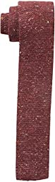 Tommy Hilfiger Men\'s Donegal Knit Slim Tie, Red, One Size