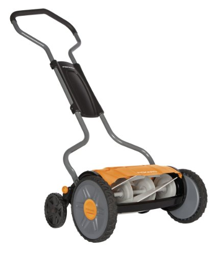 Fiskars 6207 17-Inch Plus Staysharp Plus Push Reel Lawn Mower