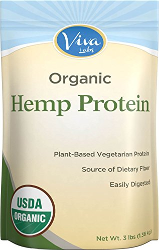 Viva Labs - 15g Organic Hemp Protein Powder, Cold-Milled for Higher Absorption, 3 LB Bag (Absorption Omega compare prices)