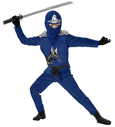 Ninja Avenger II with Armor Blue Children's Costume