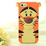 LCMU Cute Cartoon 3D Disney Monster University Animals style Silicone Cases Covers for Apple iPhone 6 (4.7 inch)(jump tigger)