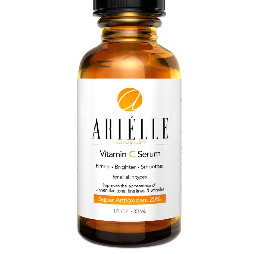 Best Vitamin C Serum 20% By Arielle - Powerful Ingredients For Anti-Aging - Reduces Wrinkles And Sun Spots On Your Face - Better Than Eye Creams - Infused With Highest Grade Ascorbic Acid - Super Antioxidant - 100% Satisfaction Guaranteed - Buy Now!