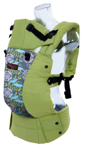 Lillebaby Complete Baby Carrier Organic Designer - Green W/Finch (Ty Pennington Limited Ed.) front-3072