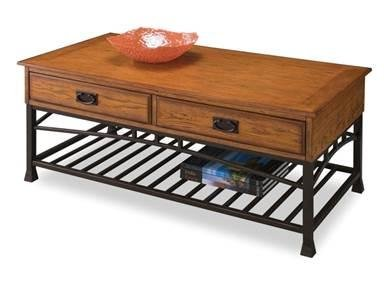 Details for Home Style 5050-21 Modern Craftsman Coffee Table, Distressed Oak Finish from Home Styles