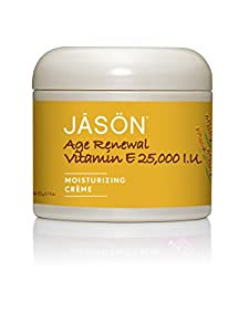 JASON Age Renewal Vitamin E Crème 25,000 IU, 4 Ounce (Pack of 2)