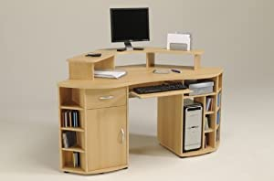 parisot computertisch pc eckschreibtisch moritz. Black Bedroom Furniture Sets. Home Design Ideas