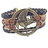 Hunger Game, Brown and Black Leather Bracelet