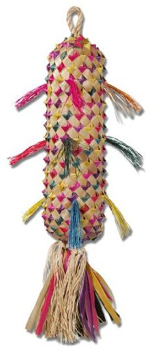 Planet Pleasures Spiked Pinata Xlarge 22in Natural Bird Toy