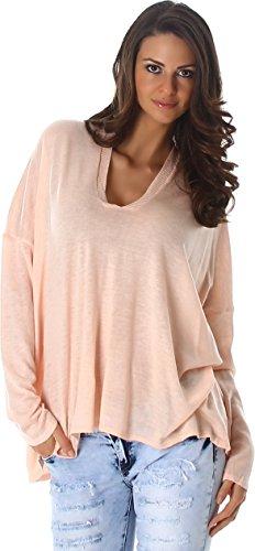 Jumpers, Cardigans & Sweatshirts Ladies sweater sweater Sweat Shirt fine knit V-Neck Sweater Long Sleeve Sweatshirt Women