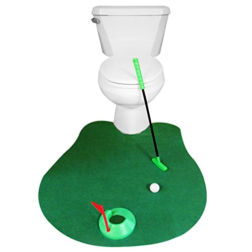 Evelots Novelty Golf Potty Putter for Bathroom - Gag Gift for Golf Enthusiasts - 1