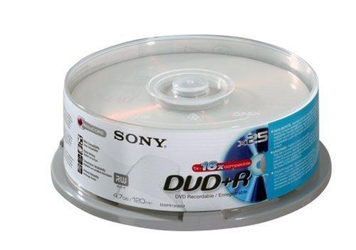 Sony - DVD+R Enregistrable - 16X - Spindle de 25 - 4.7 Go/ - Vitesse 16X - 25DPR120BSP