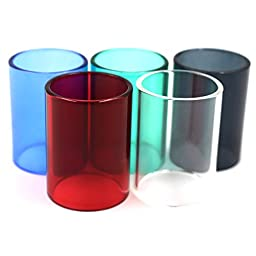 Mbaoluo 5PCS Glass Tubing 22mm (OD) x 30mm Long Melo 3 Glass Tubing tank glass ashtray 5 Colors
