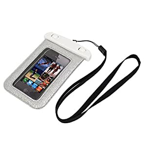 Cell Phone Blink Waterproof Case Dry Bag Cover Pouch Silver Tone