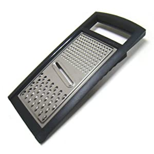Multiple Surface Stainless Steel Cheese Grater with Non-Slip Rubber Base by chefgadget