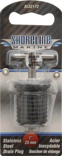 Shoreline Marine Stainless Steel Drain Twist Plug, 1-Inch
