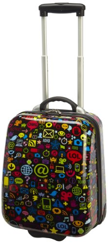 TrendyKid Travel Kool Luggage, Chat, Black