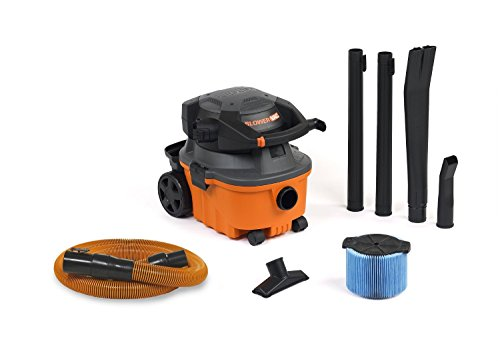 RIDGID Wet Dry Vacuums VAC4010 2-in-1 Compact and Portable Wet Dry Vacuum Cleaner with Detachable Blower, 4-Gallon, 6.0 Peak HP Leaf Blower Vacuum Cleaner (Rigid Portable Vacuum compare prices)