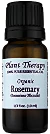 Organic Rosemary Essential Oil. 10 ml. 100 Pure Undiluted