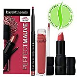 Bare Escentuals Perfect Mauve 100% Natural Lip Trio ($41 Value) Perfect Mauve 100% Natural Lip Trio