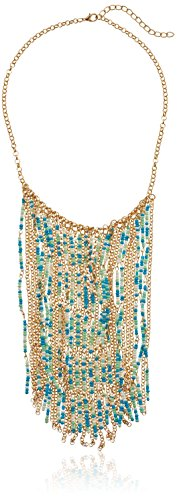 Multi-Seed Bead Fringe Necklace, 16