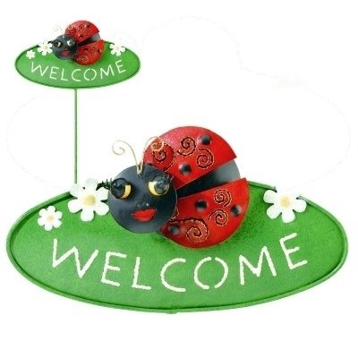 Welcome Garden Stake - Ladybug - by Regal Gift
