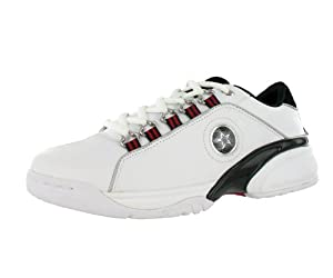 Converse Men's Cambell Ox Casual Shoe Black, Red, White (9.5)
