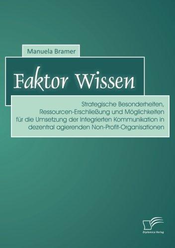 Faktor Wissen: Strategische Besonderheiten, Ressourcen-Erschließung und Möglichkeiten für die Umsetzung der Integrier