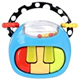 Supreme Play a Tune Piano Rattle Toy - Cleva Edition ChildSAFE Door Stopz Bundle