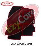 MAZDA 2 (07+) (4 X CLIP) TAILORED CAR MATS & RED SPORT BADGE