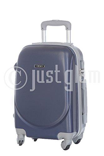Trolley da cabina valigia 55 cm. rigida 4 ruote in abs policarbonato antigraffio e impermeabile compatibile voli lowcost come Easyjet Rayanair art 201020