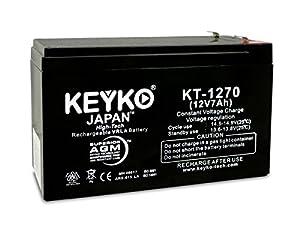 12V 7Ah Sealed Lead Acid SLA Battery Genuine KEYKO ® KT-1270 (W/ F-1 Terminal) from Keyko Technologies LLC