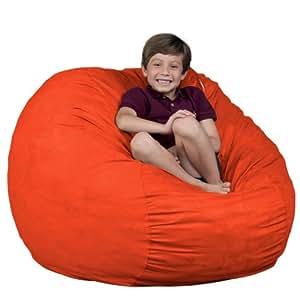 bean bag chair fugu brand orange medium 3 39 size 3 foot kitchen dining. Black Bedroom Furniture Sets. Home Design Ideas