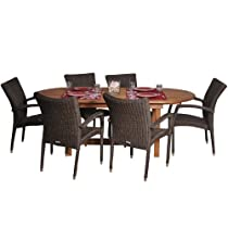 Hot Sale Amazonia Lemans 7-Piece Deluxe Dining Set