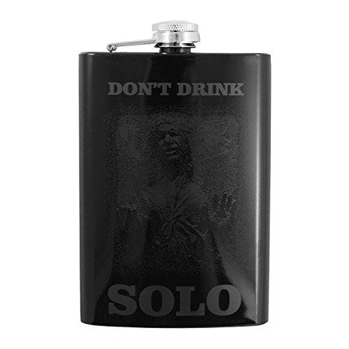 8oz Dont Drink Solo Black Flask
