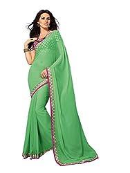 Subhash Sarees Daily Wear Green Color Chiffon Saree Sari Sarees
